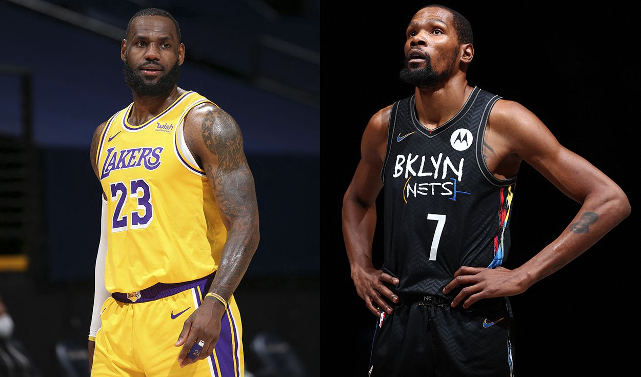 LeBron James y Kevin Durant serán los capitanes del NBA All Star 2021. Foto: composición/AFP