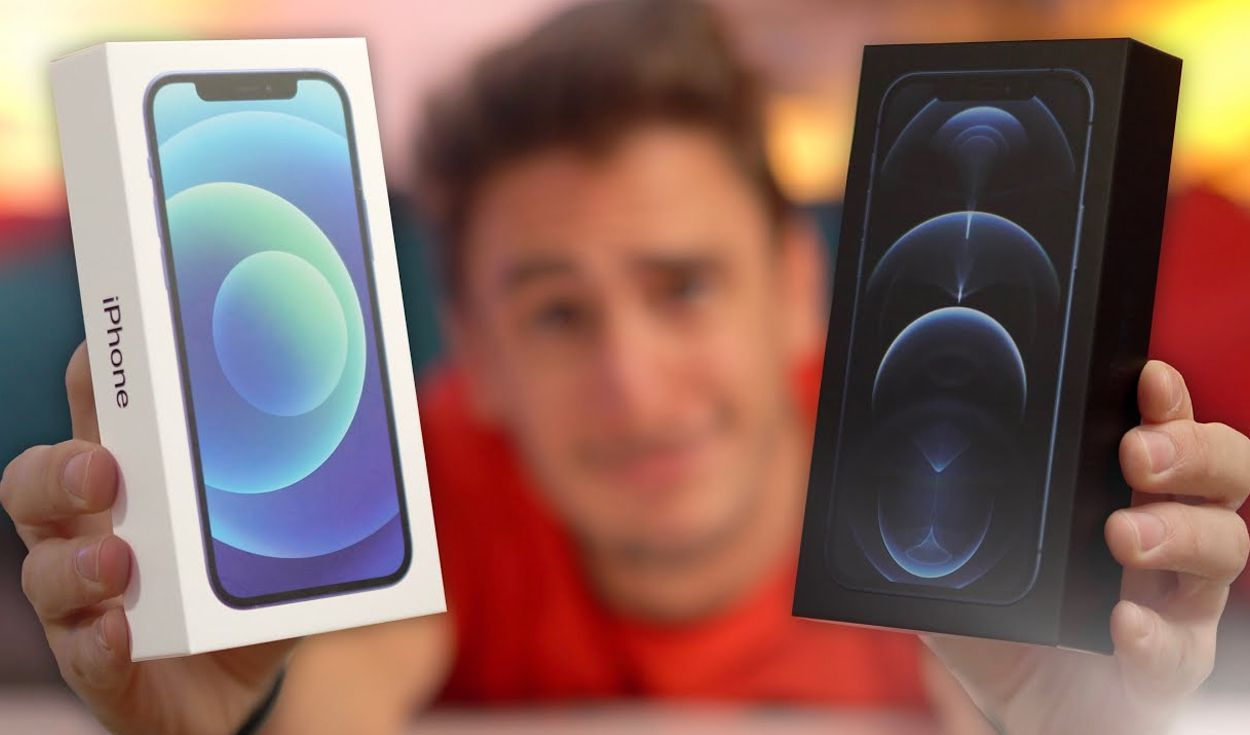 Cajas del iPhone 12 que pueden adquirirse en Francia. Foto: Captura de YouTube