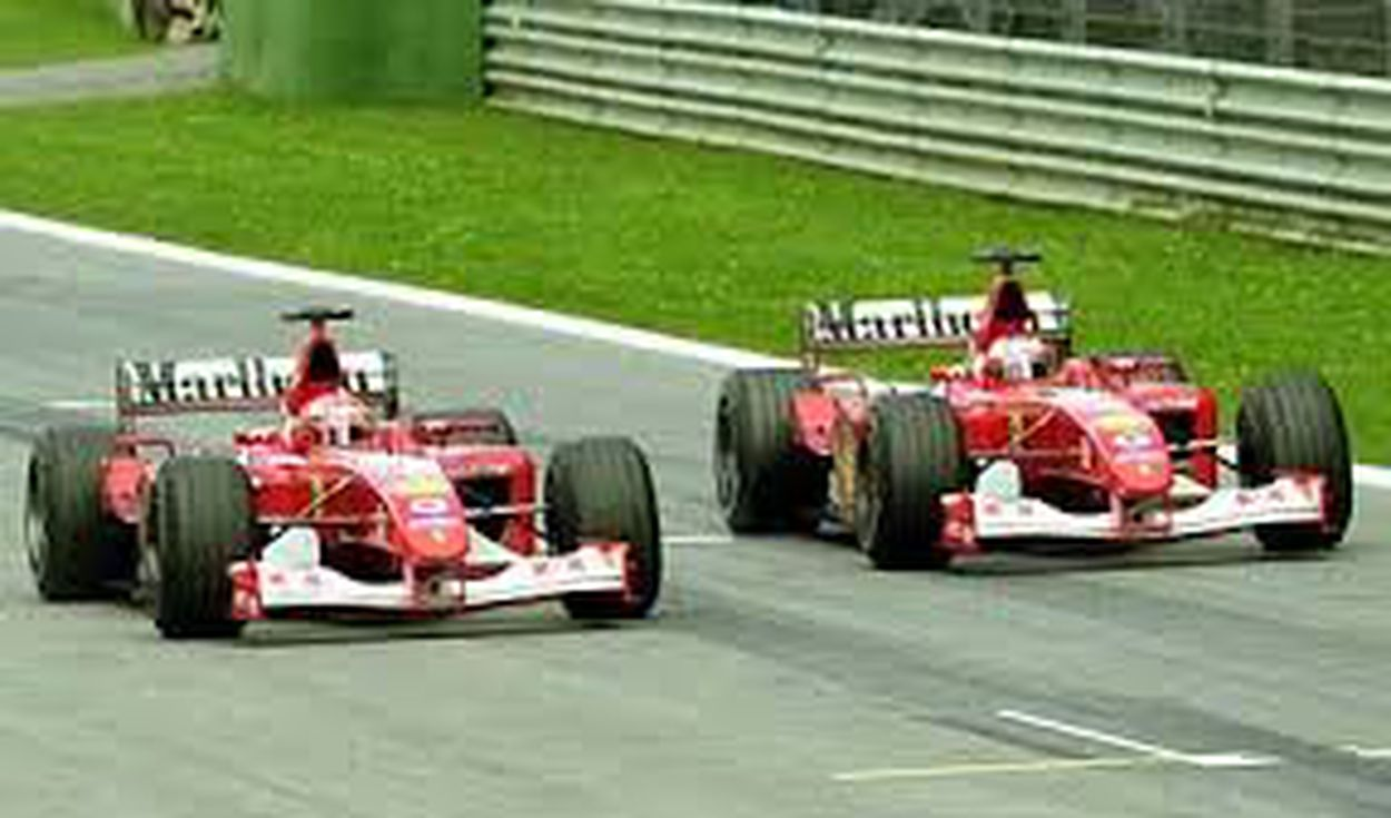 GP Austria 2002: Schumacher vs. Barrichello.