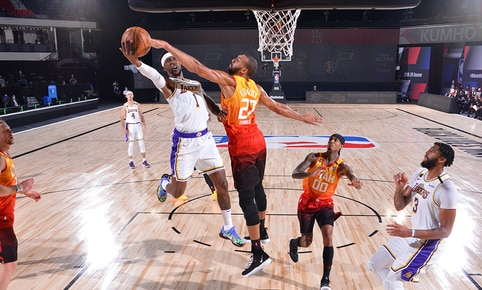Lakers vs. Utah por la NBA. (FOTO: AFP).