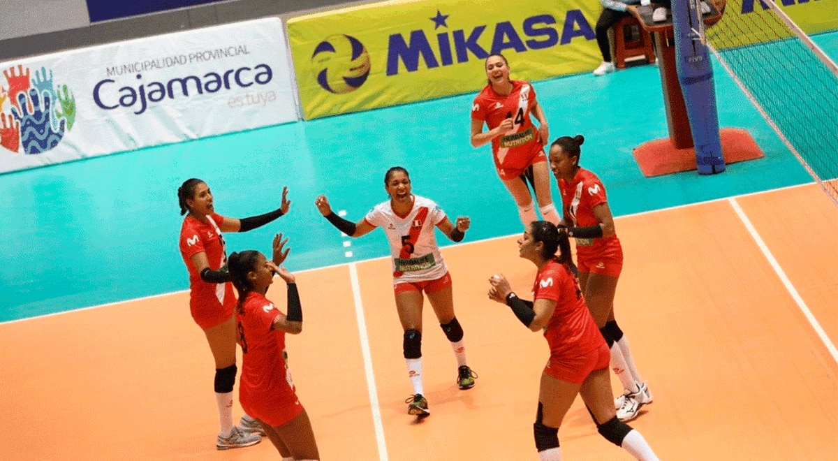Volleyball Peru Vs Bolivia The Peruvian National Team Debuted With Triumph In The South American Women S Volleyball Championship 2019 In Cajamarca Result Summary Sports