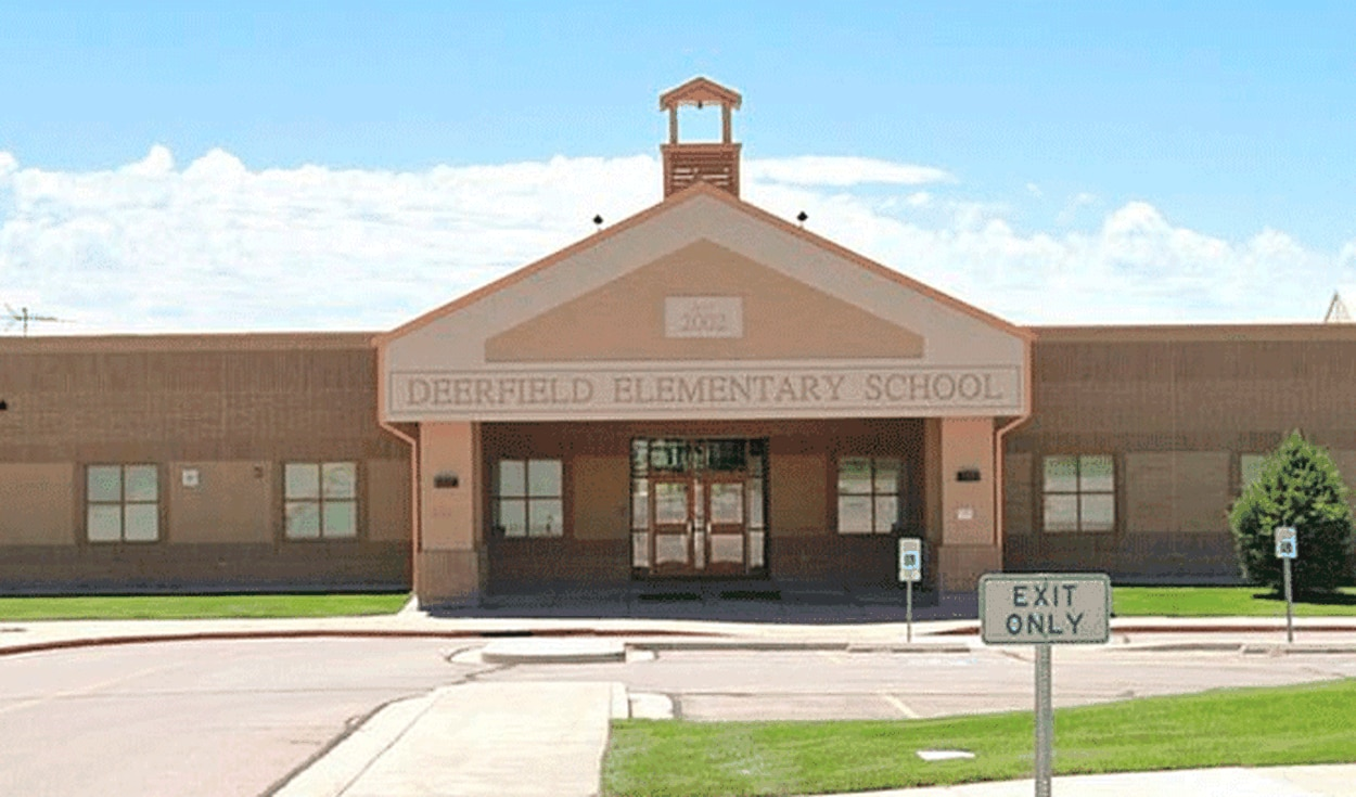 Deerfield Elementary School, en Cedar Hills, lugar del incidente. Fuente: Google Maps.