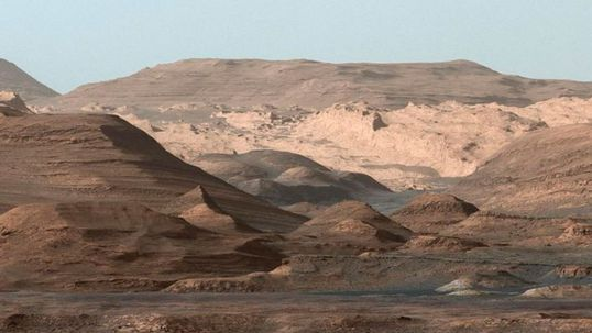 Photo of Mount Sharp Base, in the center of the Gale crater. Photo: NASA