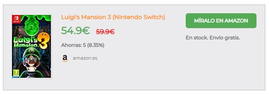Nintendo Luigi's Mansion 3 en preventa por Amazon.