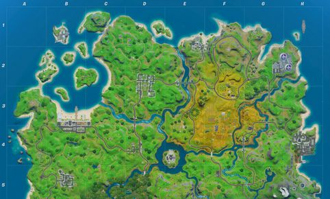 Mapa de Fortnite en la temporada 2.