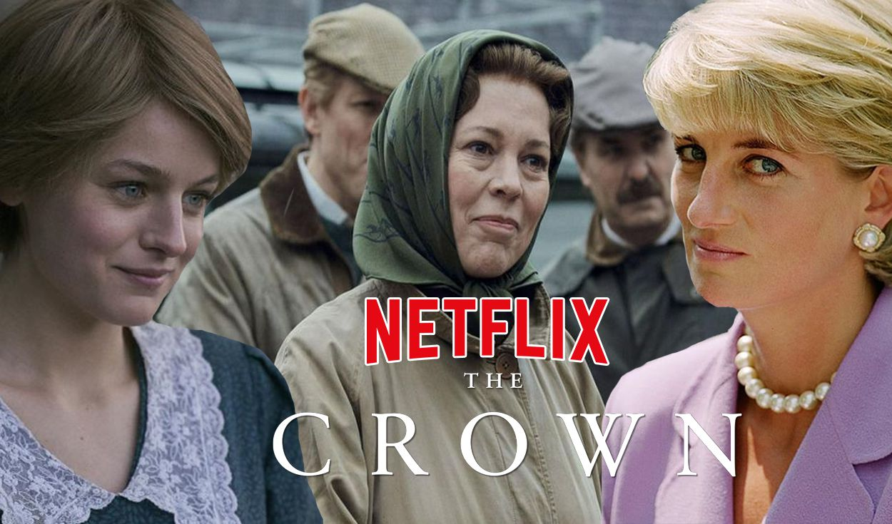 Emma Corrin y Gillian Anderson ingresaron en la temporada 4 de The crown. Foto: composición/Netflix