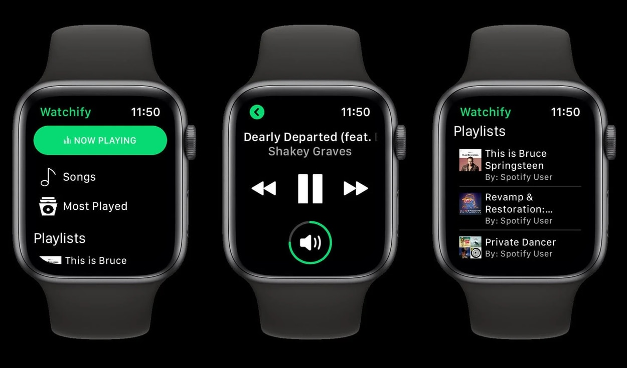 La nueva función de Spotify requiere un Apple Watch Series 3 o modelo posterior. Foto: Spotify