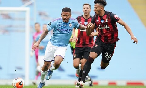 Manchester City vs. Bournemouth por la Premier League. | Foto: EFE