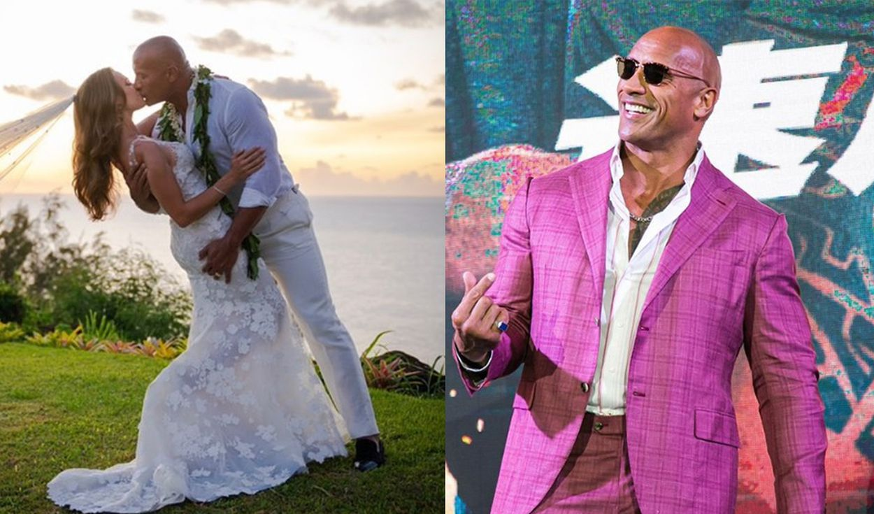 Dwayne Johnson se casó con Lauren Hashian. Foto: Captura Instagram.