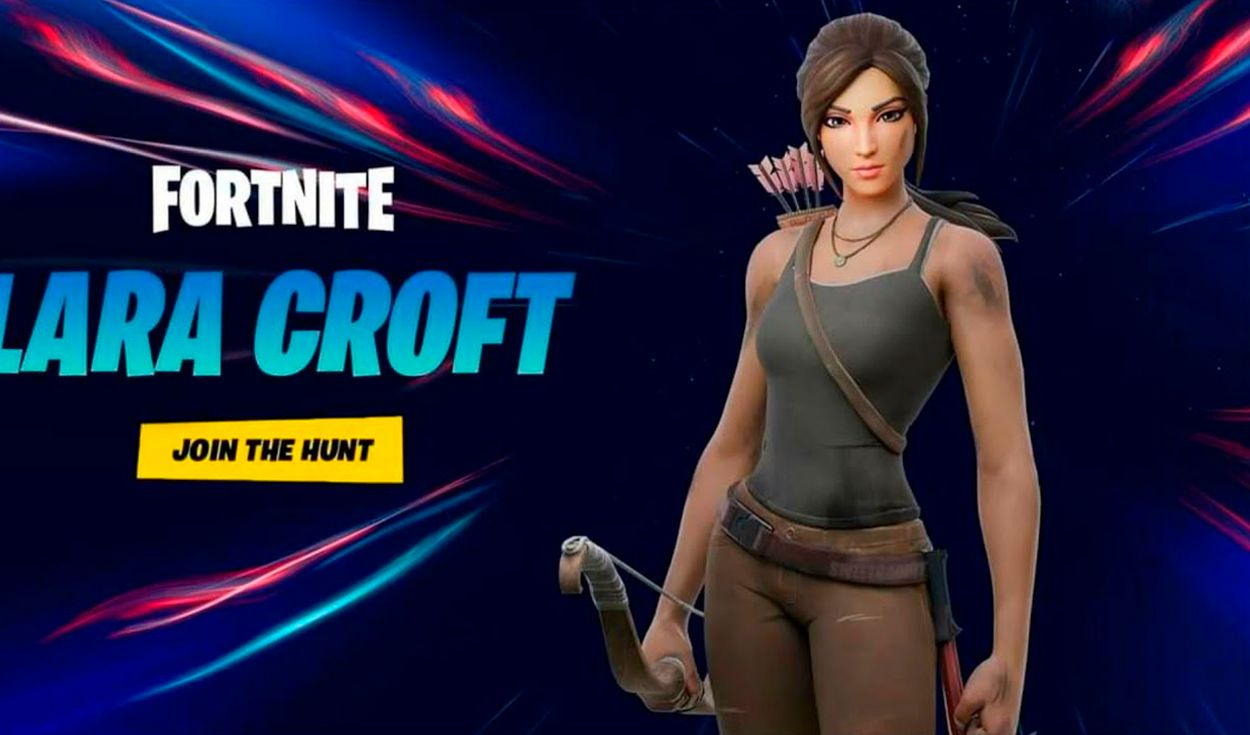 En los códigos de Fortnite se encontraron pistas respecto al debut de Lara Croft en el Battle Royale. Foto: YouTube